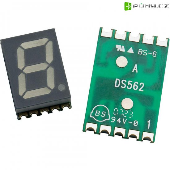 Displej 7segmentový Avago Technologies, HDSM-531F, 14,22 mm, žlutá, HDSM-531F - Kliknutím na obrázek zavřete