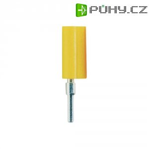 Banánkový konektor Schnepp, zástrčka, rovná, Ø pin: 2 mm, F 2020, žlutá