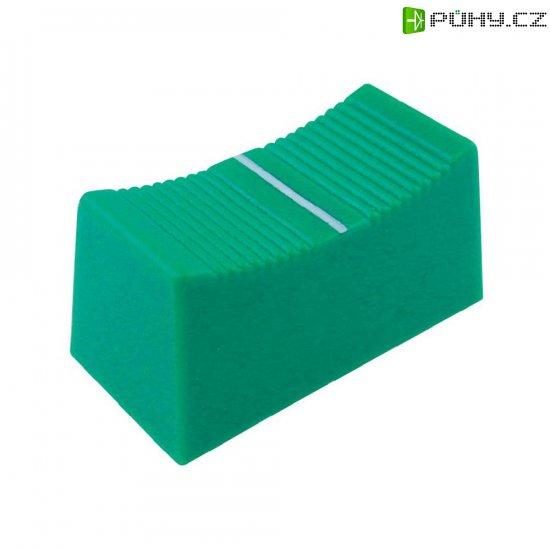 Krytka na přepínač Cliff CP3270, CS, 4 mm, zelená - Kliknutím na obrázek zavřete