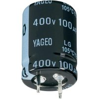 Snap In elektrolytický kondenzátor Yageo LG400M0150BPF-3030, 150 µF, 400 V, 20 %, 30 x 30 mm