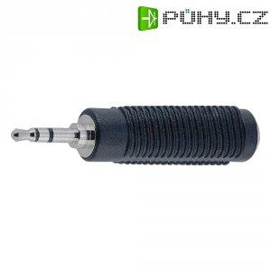 Jack adaptér BKL Electronic 1102008, 3,5 mm na 6,3 mm, černá