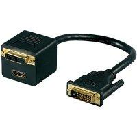 DVI-D splitter kabel na HDMI/DVI-D, 0,15 m