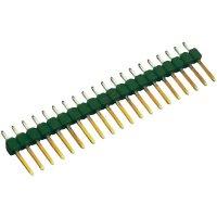 Kolíková lišta MOD II TE Connectivity 826646-6, přímá, 2,54 mm, zelená