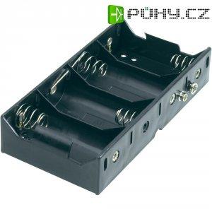 Držák na baterie 4x D s klip konektorem Goobay, černá