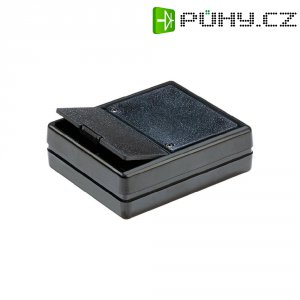 Plastové pouzdro Strapubox, (d x š x v) 80 x 61 x 23 mm, černá, 6029