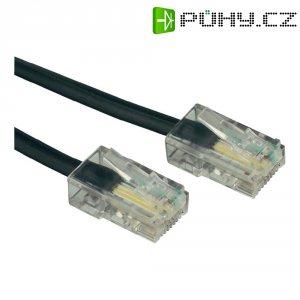 ISDN kabelová přípojka Wentronic, 4žilová, 3 m, černá
