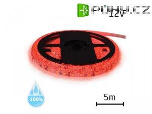 LED pásek 12V 3528 60LED/m IP68 max. 4.8W/m červená (1ks=cívka 5m) voděodolný