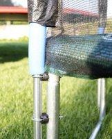 Trampolína G21 s ochrannou sítí 250 cm zelená