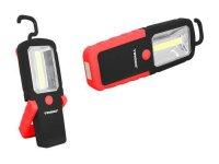 Svítilna ruční LED COB, napájení 3xAAA, červená, TIROSS