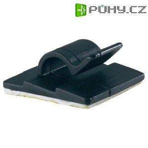 Kabelová spona PB Fastener 5431-SW 5431-SW, samolepicí, 5 mm (max), černá, 1 ks