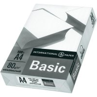 Papír do tiskárny, International Paper IP Basic 88070920, A4, 80 g/m2, 500 ks
