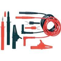 Sada měřicích kabelů banánek 4 mm ⇔ banánek 4 mm MultiContact Z4S-200, 1 m, černá/červená