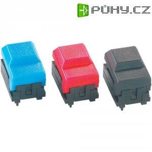 Subminiaturní ploché tlačítko s LED - červené