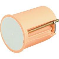 Instalační krabice pro nástěnná svítidla, s krytkou, 45x 35 mm, oranžová
