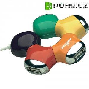 USB 2.0 hub Manhattan Hi-Speed Flex, 4-portový