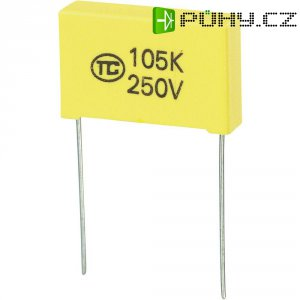 Foliový kondenzátor MKS, 1 µF, 250 V, 5 %, 26,5 x 6 x 15 mm
