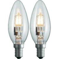 Halogenová žárovka Sygonix, E14, 42 W, stmívatelná, teplá bílá, 2 ks