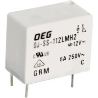 Miniaturní Power-Print relé OJ TE Connectivity 1721181-6, OJ-SS-124LMH2, 8 A