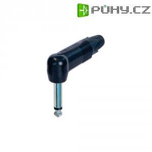 Jack konektor 6,35 mm mono Neutrik NP2RX-BAG, zástrčka úhlová, 4 - 7 mm, 2pól., černá