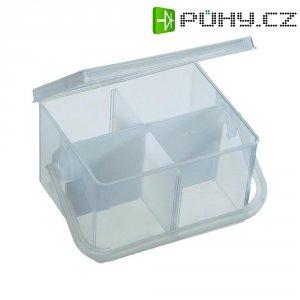 Skladovací - prázdný box, 4 přihrádky, 135 x 115 x 80 mm