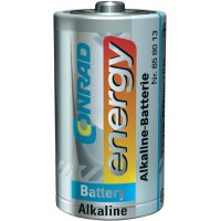 Alkalická baterie Conrad Energy, typ D