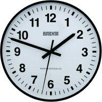 Analogové DCF nástěnné hodiny Eurochron EFWU 2001, Ø 50 cm, černá