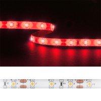LED pásek 3528 60LED/m IP54 4.8W/m červená (1ks=cívka 5m) zalitý