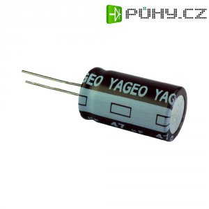 Kondenzátor elektrolytický Yageo SE063M3R30B2F-0511, 3,3 µF, 63 V, 20 %, 11 x 5 mm