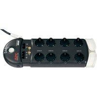 Zásuvková lišta s přepěťovou ochranou APC Performance, 1350237, 8 zásuvek, antracit