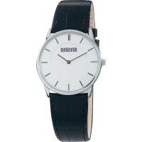 Ručičkové náramkové hodinky Eurochron 31 Quartz, kožený pásek, černá/stříbrná