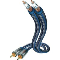 Kabel 2x vidlice cinch ⇒ 2x vidlice cinch, 0,75 m, modrý, Inakustik