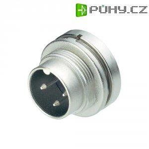 Kulatý konektor Binder 09-0307-00-03, přírubová zástrčka, 3pól., 7 A, IP40