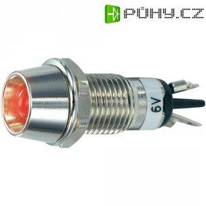 LED signálka SCI R9-115L, LED vnitřní reflektor, 5 mm, 6 V/DC, červená