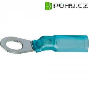 Kulaté kabelové oko DSG Canusa 7932240502, průřez 2.50 mm², průměr otvoru 10 mm, se smršťovací bužírkou, částečná izolace, modrá, 1 ks