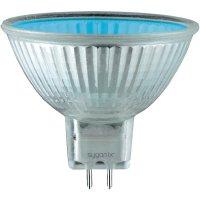 Halogenová žárovka Sygonix GU5.3, Ø 49 mm, 20 W, stmívatelná, modrá