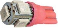 Žárovka LED T10 12V/1,5W červená, 5xSMD5050