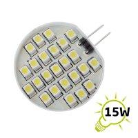 LED žárovka | G4 | 24 SMD 3528 | 1.2W | 12V | teplá bílá