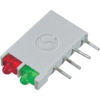 LED blok 2nás Signal Construct, DBI01300, 12 mm, červená/červená