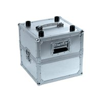 Hliníkový box na LP 30110025, (d x š x v) 375 x 375 x 430 mm, stříbrná
