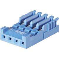 Pouzdro HE14 IDC TE Connectivity 1-281786-0, zásuvka rovná, AWG 28-26, 2,54 mm, 3 A, modrá