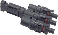 Rozbočení pro konektor MC-4, 1x konektor, 3x zdířka