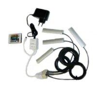 Klips LED na sklo RGB 4x 10 cm + adaptér + dálkové ovládání
