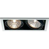 Halogenové vestavné světlo Savona, 2x 70 W, černá/stříbrná