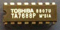 TA7688P - zesilovač pro sluchátka, DIP16