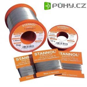 Cínová pájka, Sn60Pb39Cu1, Ø 1,5 mm, 100 g, Stannol