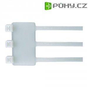 Trojitý stahovací pásek se štítkem HellermannTyton IT50RT-PA66-NA-L1, 205 x 46 x 26.3 mm