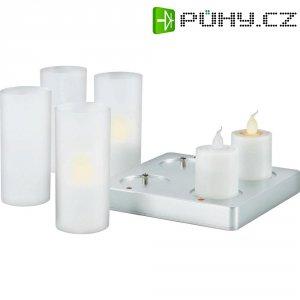 Dekorativní LED svíčka, 4 ks, žlutá