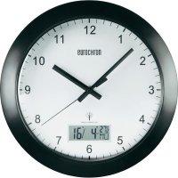 Analogové nástěnné DCF hodiny Eurochron EFWU 7701, 30 cm, černá