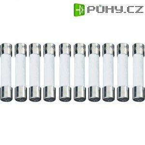 Jemná pojistka ESKA pomalá UL632.306, 250 V, 0,08 A, skleněná trubice, 6,3 mm x 32 mm, 10 ks