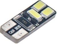 Žárovka LED T10 12V/ 2W bílá, CANBUS, 6xSMD5730